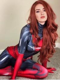 Dark Phoenix Suit X-men Jean Grey Dyesub Girls Superhero Costume