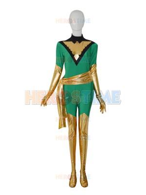 Jean Grey Deep Green Phoenix X-men Superhero Costume
