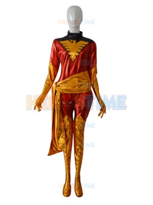 Marvel X-men Phoenix Jean Grey Shiny Superhero Costume
