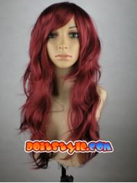 Phoenix Jean Grey Superhero Claret Long Curly Wig