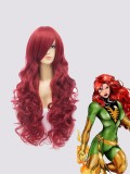 Red Curve X-men Jean Grey Superhero Wig