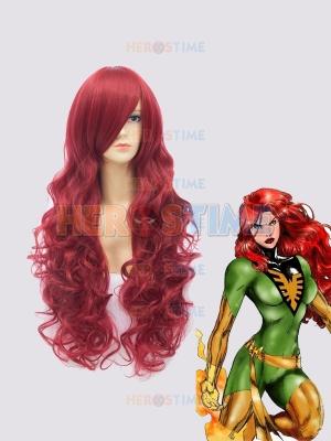 Red Curve X-men Jean Grey Superhero Wig
