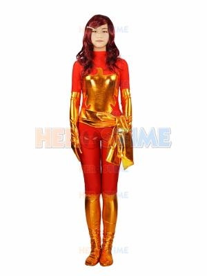 Red X-men Dark Phoenix Spandex Superhero Costume