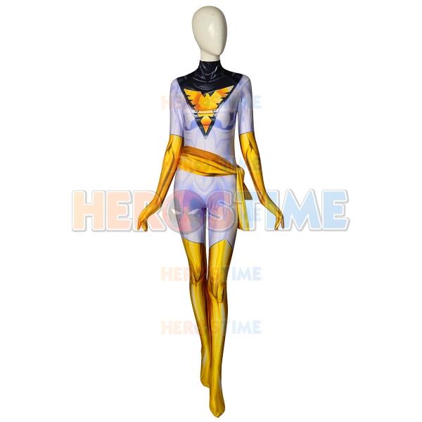 White Phoenix Suit X-Men Phoenix Cosplay Costume
