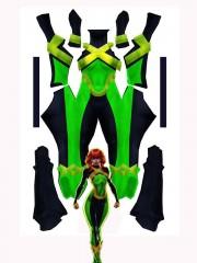 X-men Blue Jean Grey Printing Superhero Costume