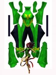 X-men Blue Young Phoenix Printing Superhero Costume
