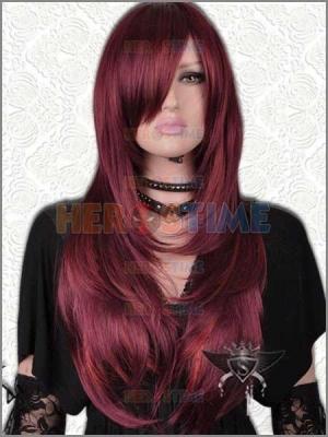 X-men Jean Grey Dark Red Superhero Wig