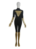 Black & Gold X-men Phoenix Superhero Costume
