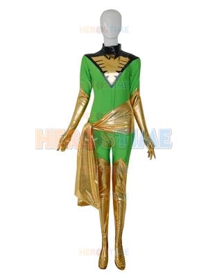 Jean Grey X-men Green Female Superhero Costume