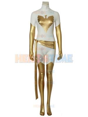 X-Men White Phoenix of the Crown Shiny Metallic Cosplay Costume