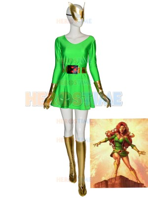 Original Marvel Girl Jean Grey Halloween Superhero Costume