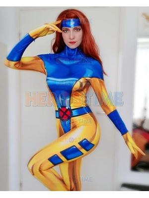 Phoenix Costume 90's X-Men Jean Grey Cosplay Suit