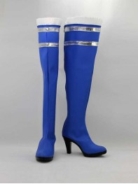 Psylocke X-men Marvel Blue High Heel Superhero Boots