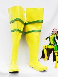 Yellow & Green X-men Rogue Cosplay Boots