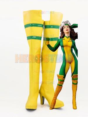 X-men Rogue Girls High Heels Superhero Cosplay Boots