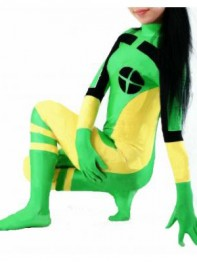 Green & Yellow X-men Rogue Superhero Costume