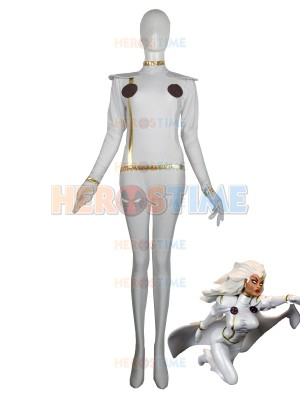 X-men White Storm Spandex Superhero Costume No Cape