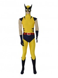 Navy Blue & Yellow Wolverine Superhero Costume
