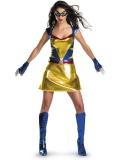 Sexy Wild Thing Shiny Metallic Superhero Costume