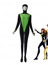 X-men Black Green Custom Superhero Costume