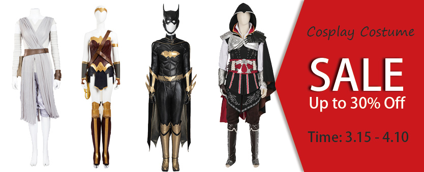 Cosplay Costume Up to 30% Off