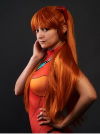 EVA Asuka Langley Soryu Spandex Cosplay Swimsuit