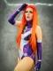 2018 New Style Starfire Teen Titans Printing Superhero Costume