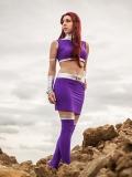 Teen Titans Starfire Spandex Superhero Costume