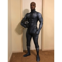 2018 Film Version Black Panther Costume Printing Superhero Costume