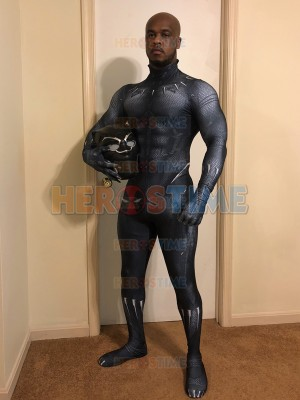 2018 Film Version Black Panther Costume Printing Superhero Costume