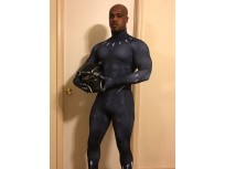 Black Panther 2018 Film Version Dyesub Cosplay Costume No Mask