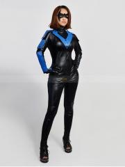 Batman Arkham City Nightwing Female Superhero Cosplay Costume