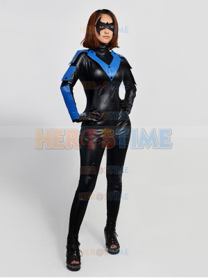 Batman Arkham City Nightwing Female Superhero Cosplay Costume