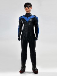Batman Arkham City Nightwing Superhero Cosplay Costume & Nightwing CostumeDick Grayson Nightwing Superhero Costume