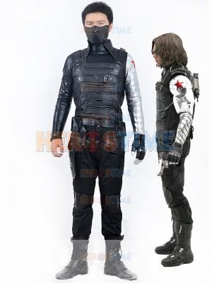 Captain America 2 Winter Soldier Bucky James Buchanan Barnes Costume