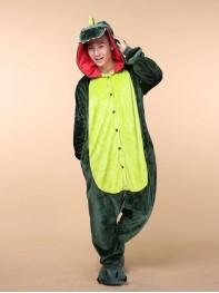 Cute Cartoon Animal Dinosaur Flannel Home Dress