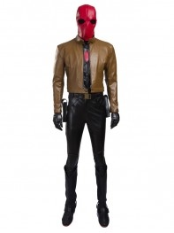 Batman Series Red Hood Jason Todd Cosplay Costume Full Set