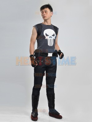 Hot The Punisher Superhero Cosplay Costume