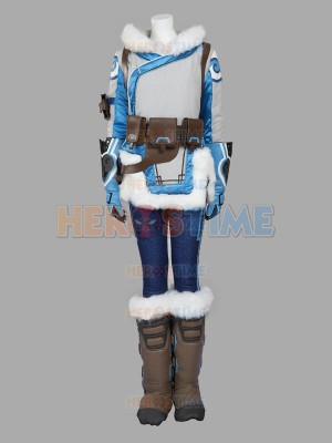Overwatch Mei Girl Winter Superhero Cosplay Costume