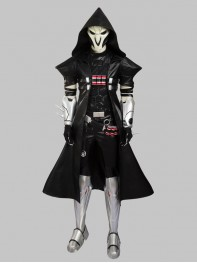 Overwatch Reaper Gabriel Reyes Superhero Cosplay Costume No Mask