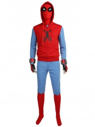 Spiderman Homecoming Costume Peter Parker Hoodie Suit