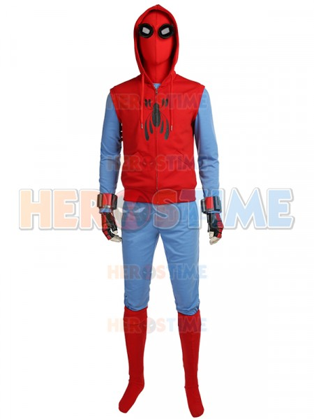 Spiderman Homecoming Costume Peter Parker Hoodie Suit
