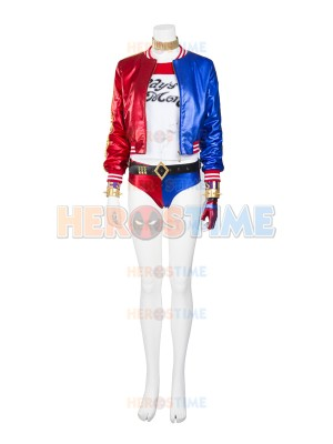 Suicide Squad Harley Quinn Cosplay Costume Full Set