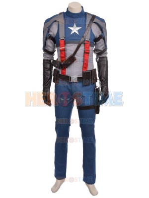 2017 Deluxe Captain America Superhero Costume