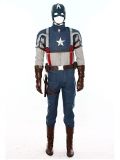 Deluxe Civil War Captain America Superhero Cosplay Costume