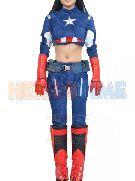 sc 1 st  Herostime.com & Deluxe Womens Captain America Superhero Cosplay Costume