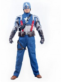 Mens Classic Captain America Superhero Cosplay Costume