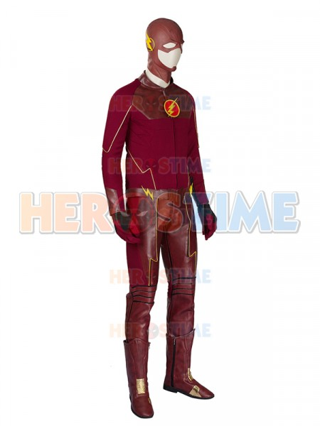 the flash season 1 deluxe mens superhero cosplay costume. Black Bedroom Furniture Sets. Home Design Ideas