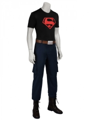 Young Justice Superboy Boy Superhero Cosplay Costume