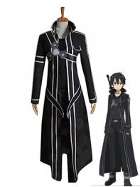 Sword Art Online SAO Kirito Coslay Costume